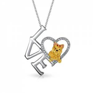 yorkie pendant and yorkie charm